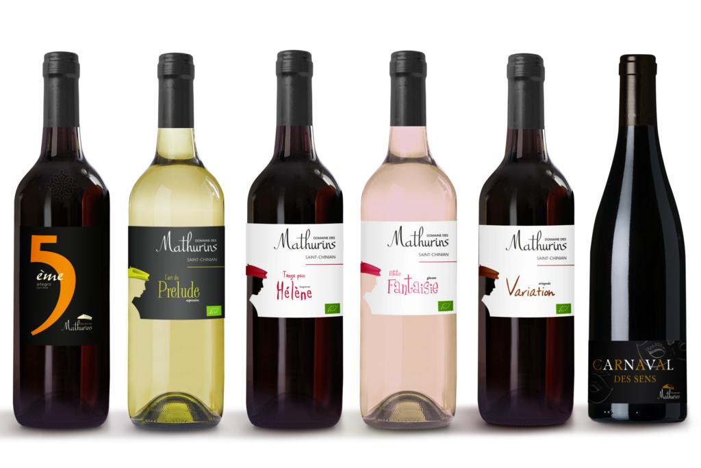 gamme de vin des mathurins